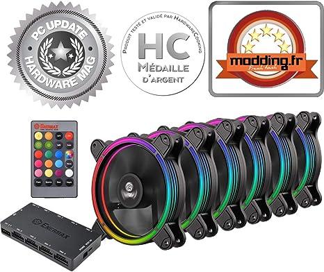 Enermax T.B. RGB uctbrgb12-bp6 Ventilador para PC: Enermax: Amazon ...