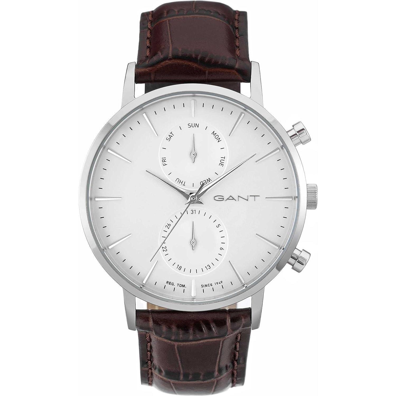 GANT TIME Herren-Armbanduhr PARK HILL DAY-DATE Analog Quarz Leder W11201