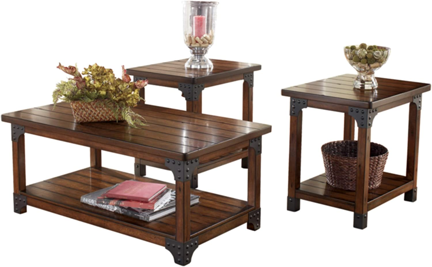 Signature Design 3-Piece Occasional Wooden Table