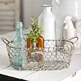 Oval Chicken Wire Basket with Handles by Colonial