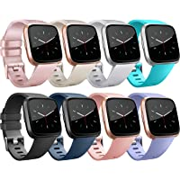 Tobfit for Fitbit Versa Band/Fitbit Versa Lite Bands, Sport Wristband Small Large Classic TPU Replacement Watch Band for Fitbit Versa & Fitbit Versa Lite & Versa SE & Versa 2 Smart Watch
