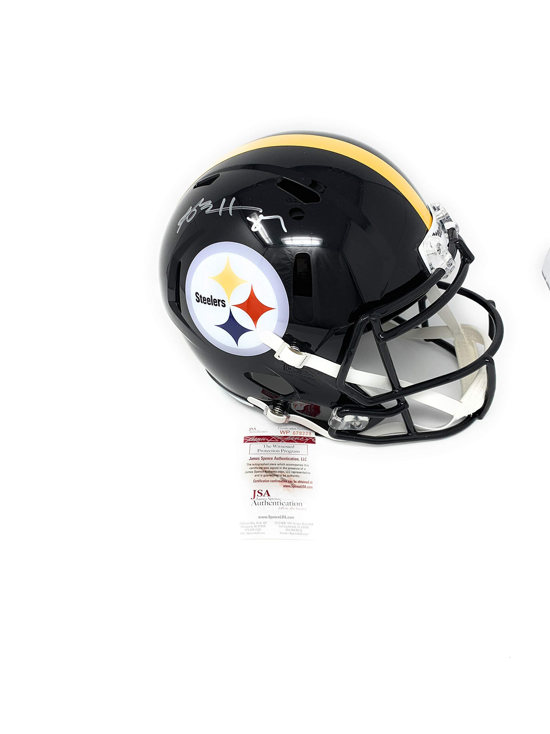 Antonio Brown Pittsburgh Steelers Signed Autograph Speed Full Size Helmet JSA Witnessed Certified