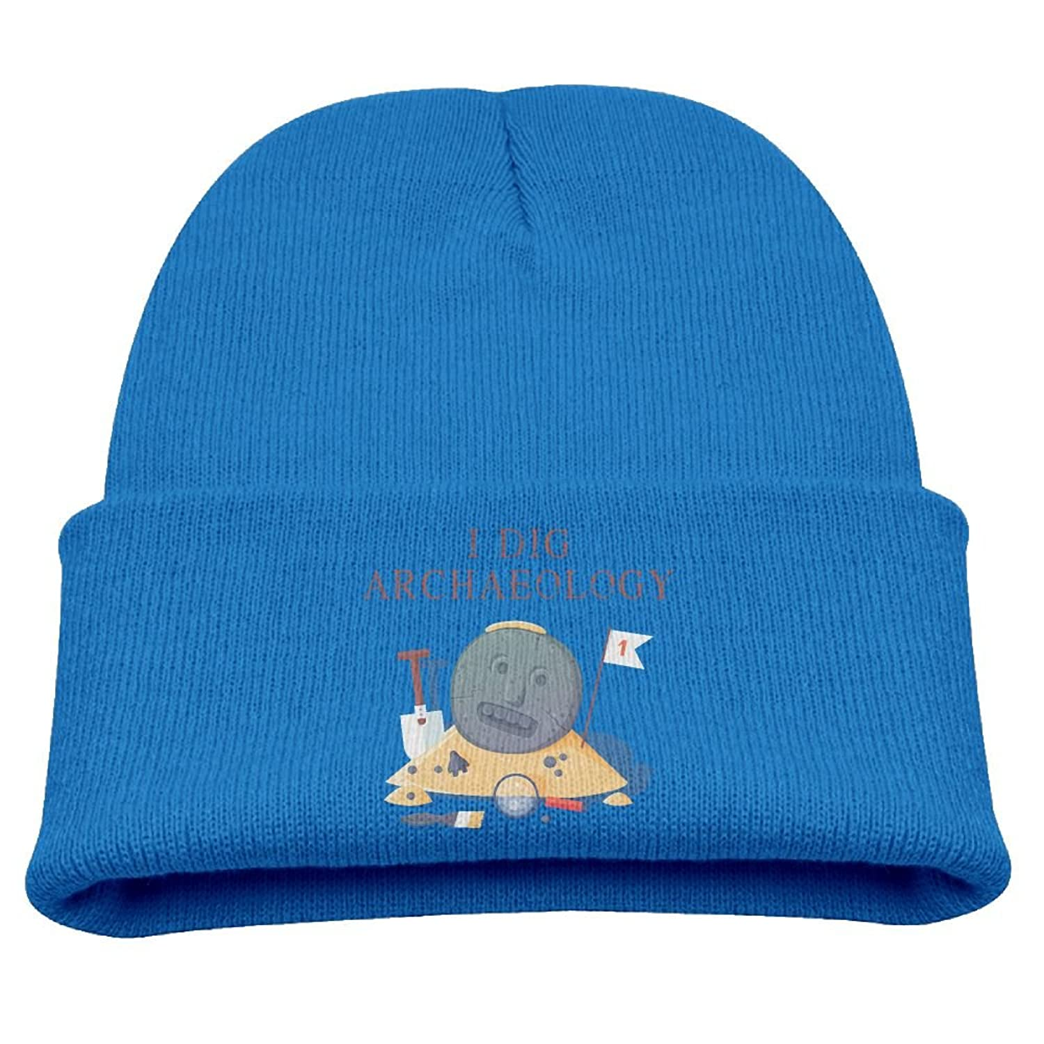 I Dig Archaeology Funny Kid's Beanies Hats Soft Skull Caps get discount