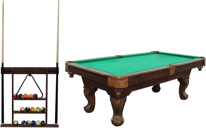 MD Sports Lancaster Gaming Company juego de billar de 90 pulgadas con diseño clásico con estante de madera, Verde: Amazon.es: Deportes y aire libre
