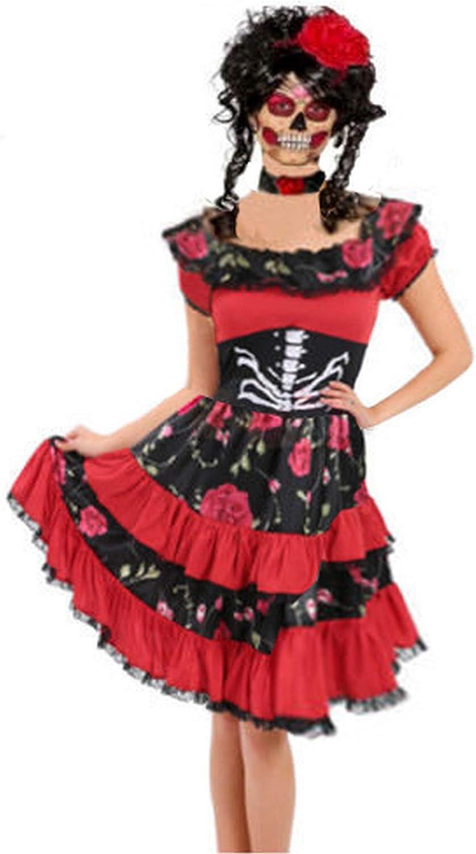 Forever Young Ladies Disfraz del Día de los Muertos Sugar Skull ...