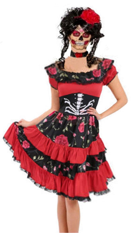 Forever Young Ladies Disfraz del Día de los Muertos de Sugar Skull ...