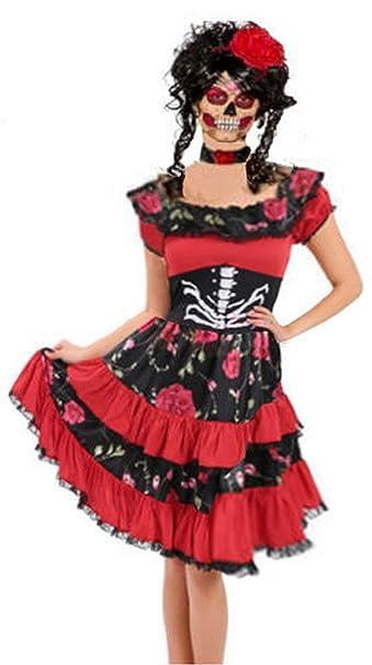 Forever Young Ladies Disfraz del Día de los Muertos de Sugar ...