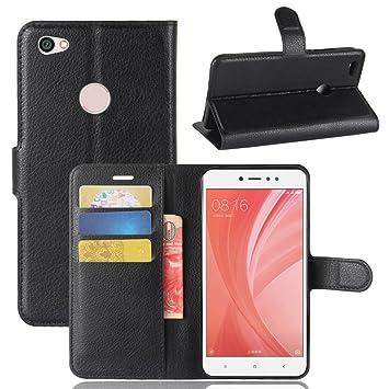 Xiaomi Redmi Note 5A Funda,Electro-Weideworld Fundas de PU Cuero Flip Wallet Case Cover Carcasa para Xiaomi Redmi Note 5A [Cierre Magnético][Función de Soporte] + Stylus, Negro: Amazon.es: Electrónica