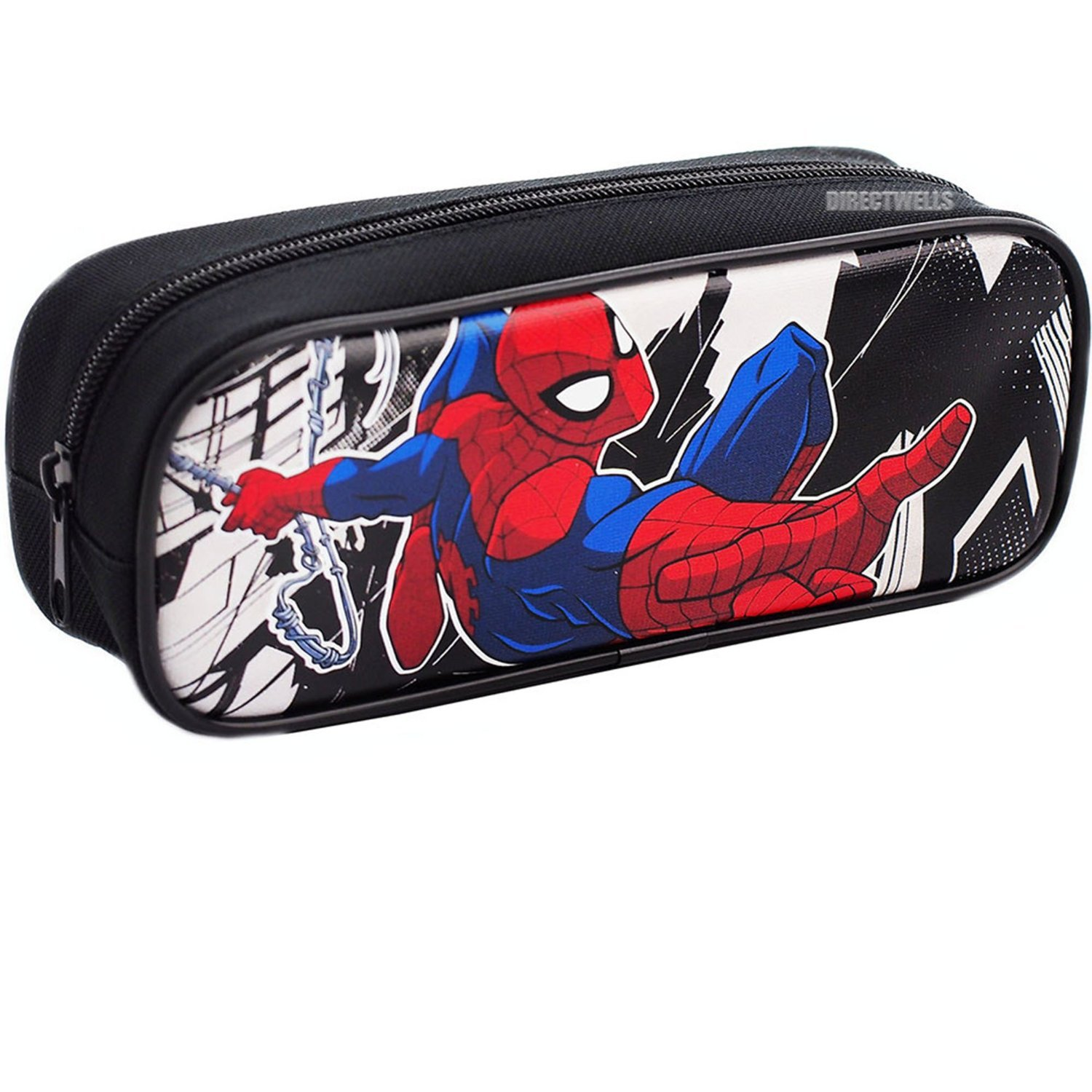 Spiderman Authentic Licensed Single Zipper Pencil Case (Black)