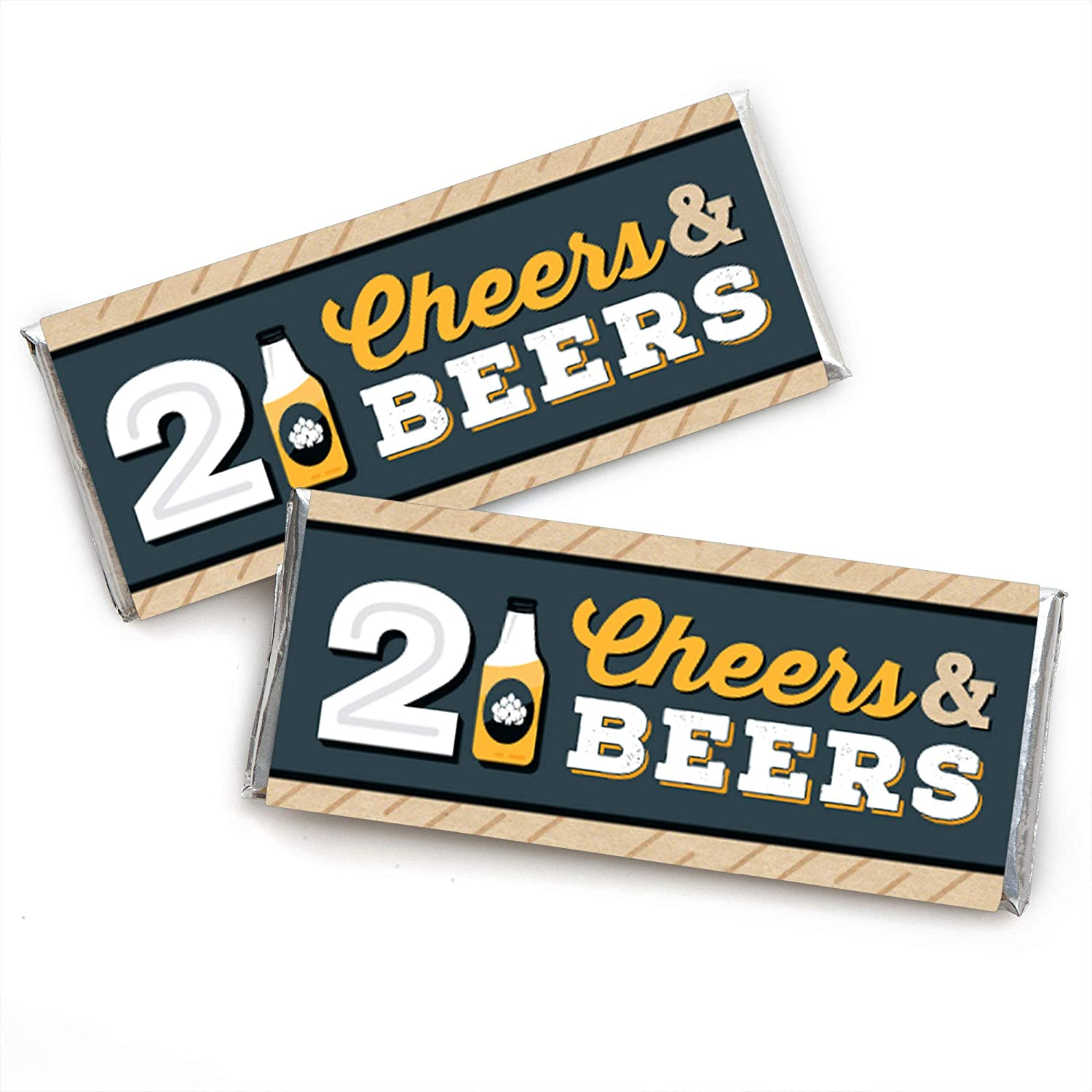 21st Birthday Party Favor Boxes Set of 12 Big Dot of Happiness Cheers and Beers to 21 Years