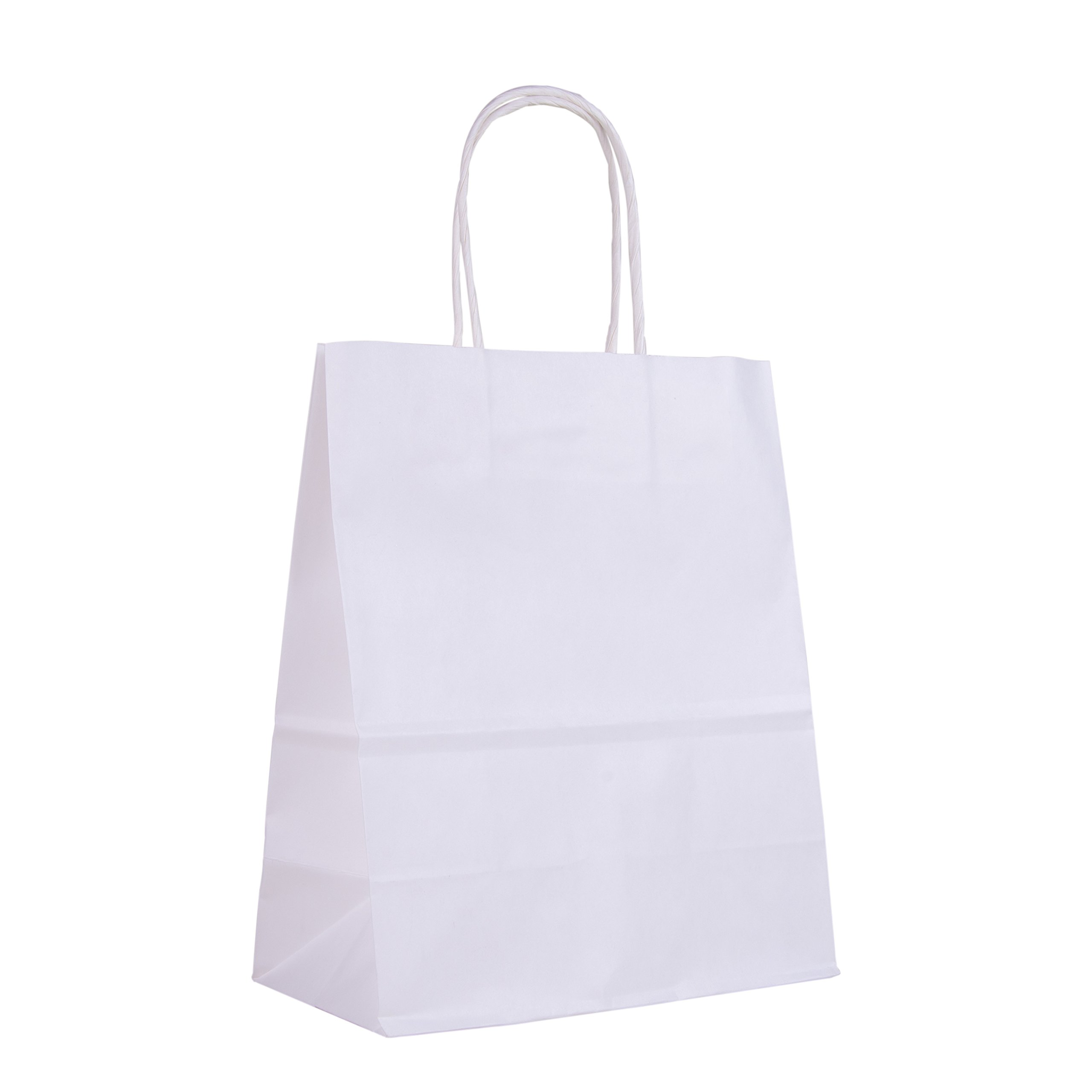 Incredible Packaging - 8'' x 5'' x 10'' Brown CUSTOM Kraft Paper Bags with Handles for Shopping, Retail and Merchandise. Strong and Reusable. (White, 4000) by Incredible Packaging (Image #5)