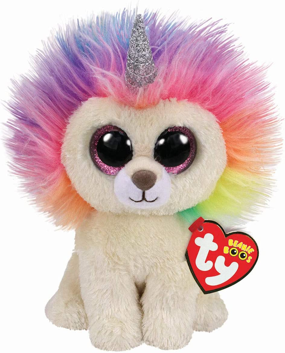 Stuffed Squirrel Animals, Amazon Com Ty Claire S Beanies Girl S Beanie Boo Small Layla The Rainbow Lion Plush Toy Toys Games