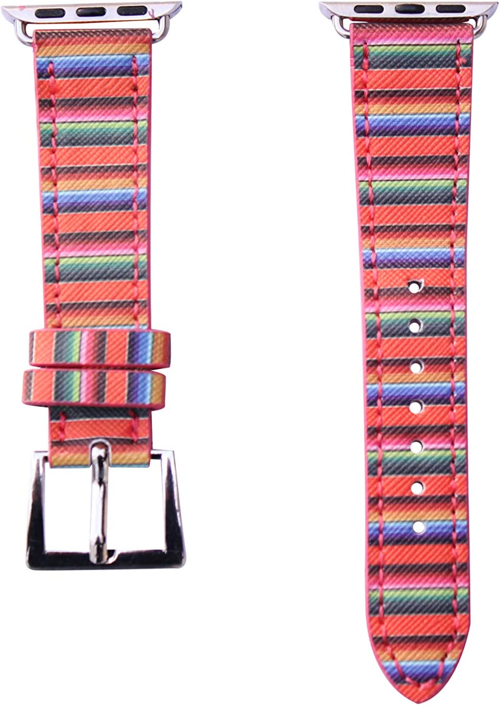 40mm/38mm Compatible for Apple Watch Series 5 Small Version, Series 4 Small Version, Series 3 Vivid Serape Watch Band No. 15SE