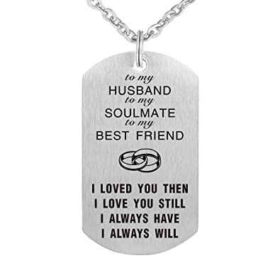 To My Love Wife Husband Soulmate BestFriend Dog Tag Necklace