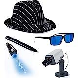 Detective Costume - Spy Gear for Kids - Dress Up - Spy Costume Accessories (4 Pc) Tigerdoe