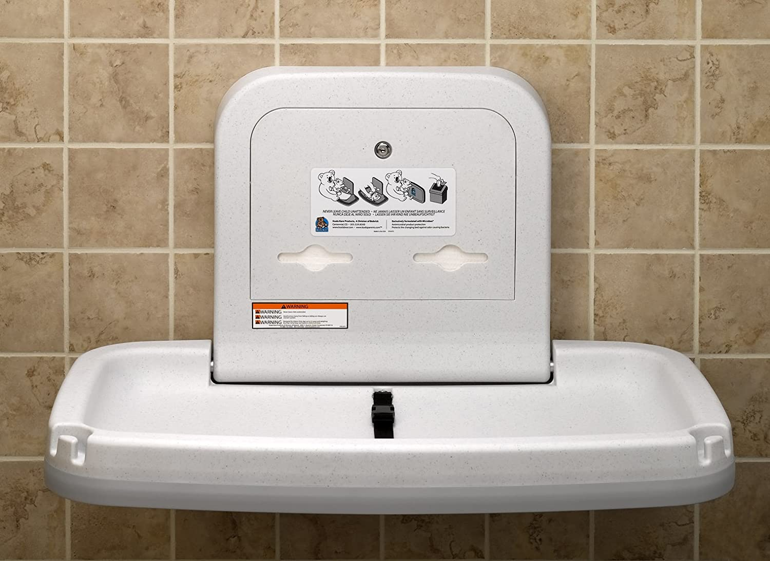 Delicieux Amazon.com: Koala Kare KB200 Horizontal Wall Mounted Baby Changing Station,  White Granite: Home Improvement