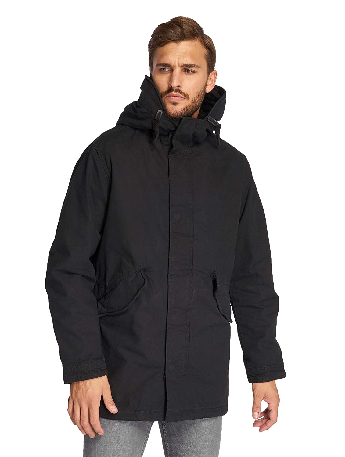 Jack & Jones Men's New Bento Parka Jacket, Black