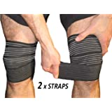 Tima Elastic Knee Compression Bandage Wraps – Support for Legs, Thighs, Hamstrings Ankle & Elbow Joints Reduce Swelling, Lymphatic Relief Help Recover from Knee Surgery