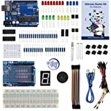UCTRONICS Primary Starter Kit for Arduino with Instruction Booklet, UNO R3, UNO R3 Proto Shied V3, Buzzer, Transistor, Tilt Switch, 74HC595 IC, 7-Segment Display, Photo Resistor