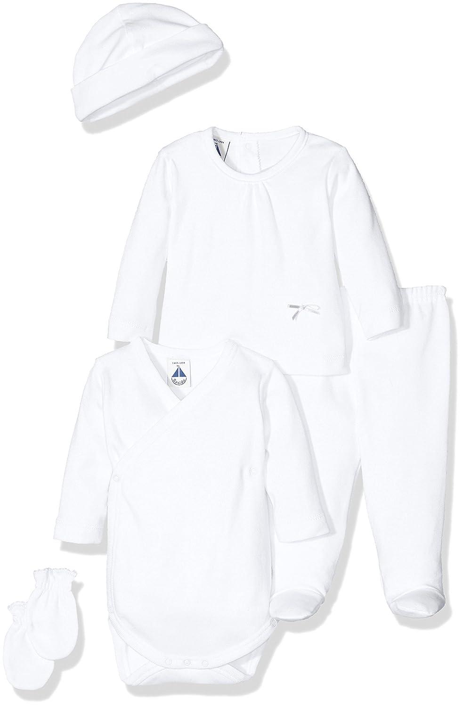 BABIDU Pack Nacimiento, Conjunto de Ropa Interior Bebe-Unisex BCO/Gris 1 Mes 566