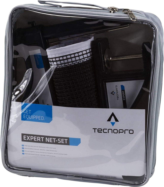Tecno Pro TECNOPRO–Red de Tenis de Mesa–Conjunto de Tenis de Mesa Red, Negro, One Size