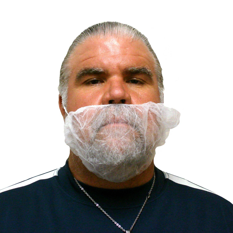 Enviroguard Polypropylene Beard Restraint, Disposable, White (Case of 10 Bags, 100 per Bag)