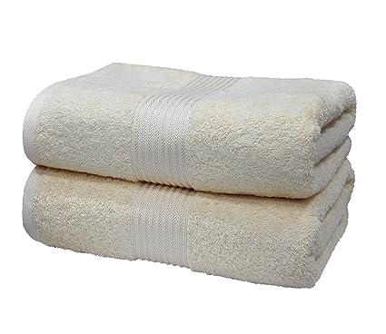 Eurospa 2 pcs toalla de baño Art juego de toallas Plain