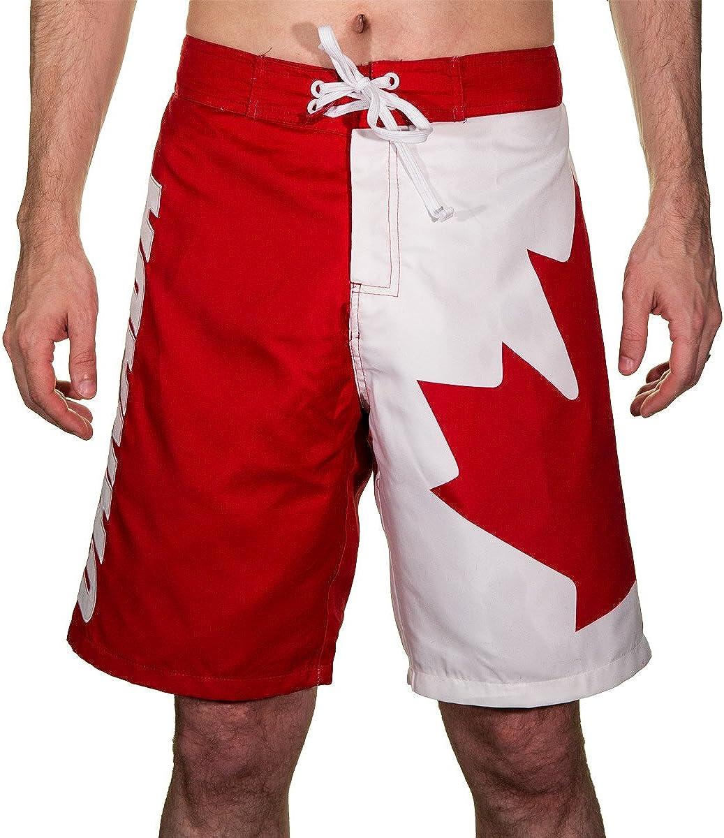 Calhoun Mens Canada Flag Boardshort