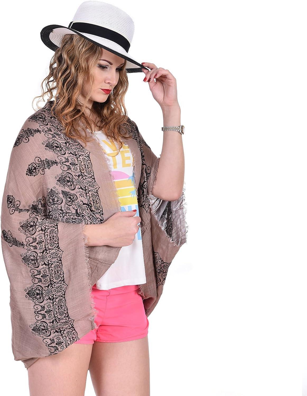 Women Floral Chiffon Shawl Kimono Cover Up Plus Size Swimsuit Beachwear Cotton Vintage Print Black At Amazon Women S Clothing Store