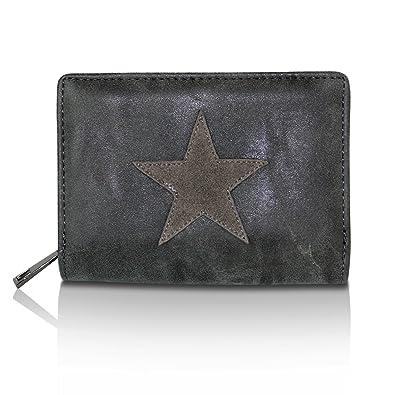 9f47d5c33fba2 Glamexx24 Geldbörse mit Stern Muster PU Leder Portemonnaie Vintage Design Brieftasche  Geldbeutel