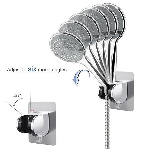Soporte para cabezal de ducha LEEFE ajustable, con soporte de gancho para ducha y bidé: Amazon.es: Bricolaje y herramientas