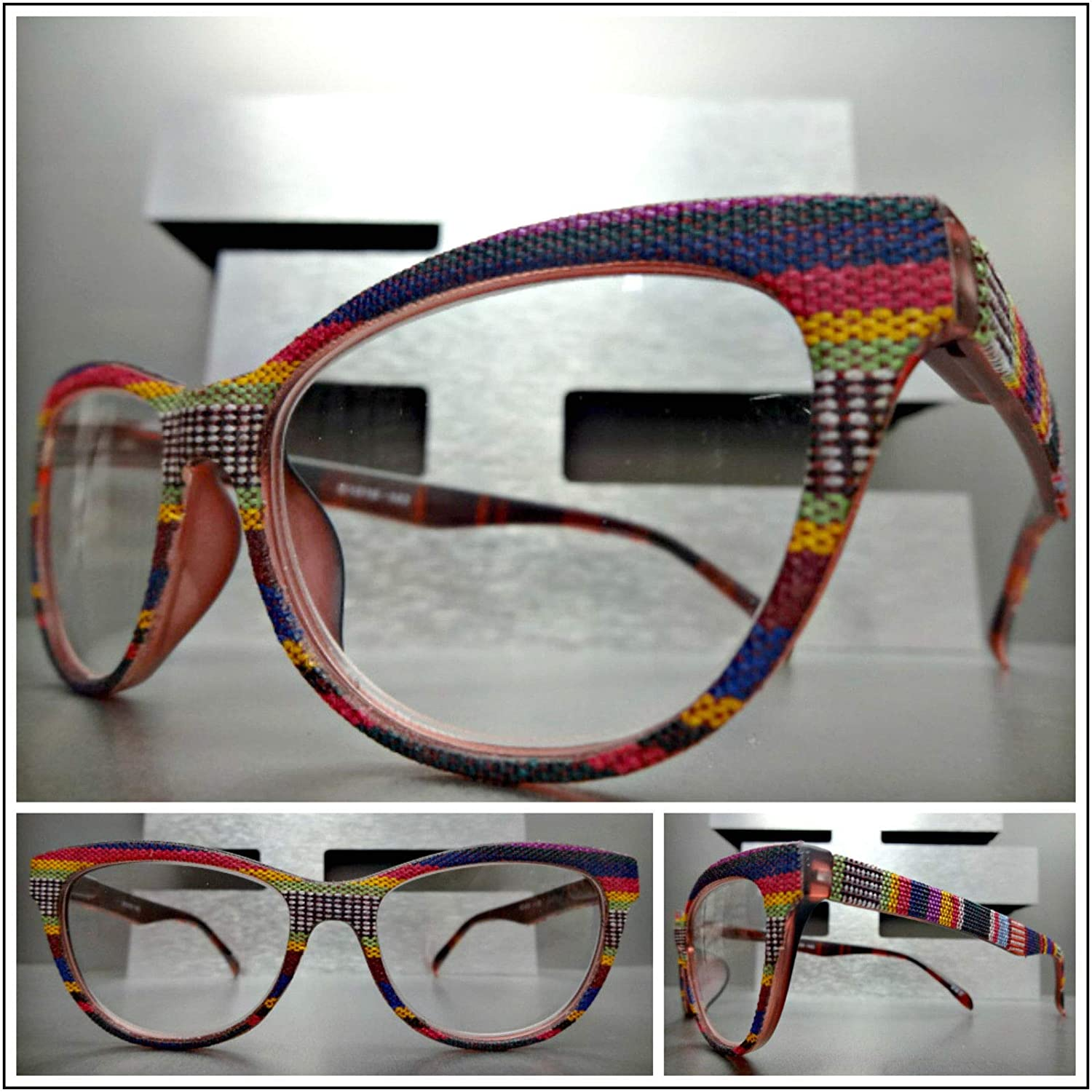 568725383a Amazon.com  Women Retro Cat Eye Style Reading Eye Glasses Readers Aztec  Tribal Design Frame (+2.50 Strength)  Health   Personal Care