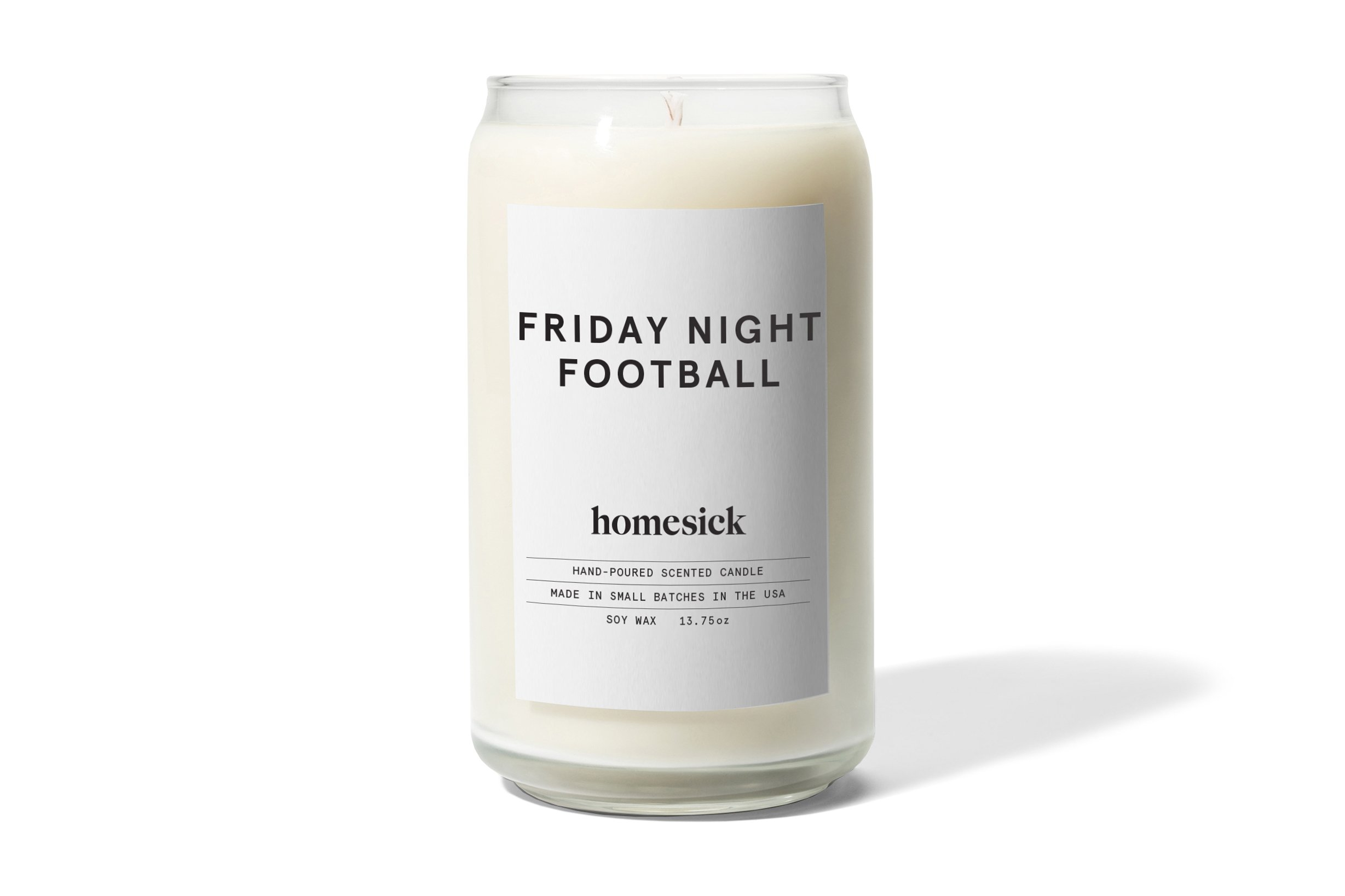 Homesick Scented Candle, Friday Night - Scents of leather cleats on freshly cut grass. Concession stand treats and refreshments. Cool fall air with hint of football player. Ingredients - The mid notes are Popcorn, Cedar wood, Sweat while the base notes are dirt and musk 60-80 hour burn time All natural soy wax - living-room-decor, living-room, candles - 713ElJqTd7L -