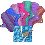 Eco Femme Reusable Cloth Menstural Sanitary Pads - Full Cycle Kits (Pack Of 7)