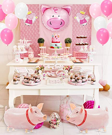 Tematica De Baby Shower Nina.Kreatwow Pig Birthday Party Decorations Supplies Walking Pig Balloons Happy Birthday Banner For Birthday Baby Shower