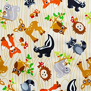 Dritz 35292 Babyville PUL 64-Inch Waterproof Diaper Fabric, 6-Yard, Forest Friends