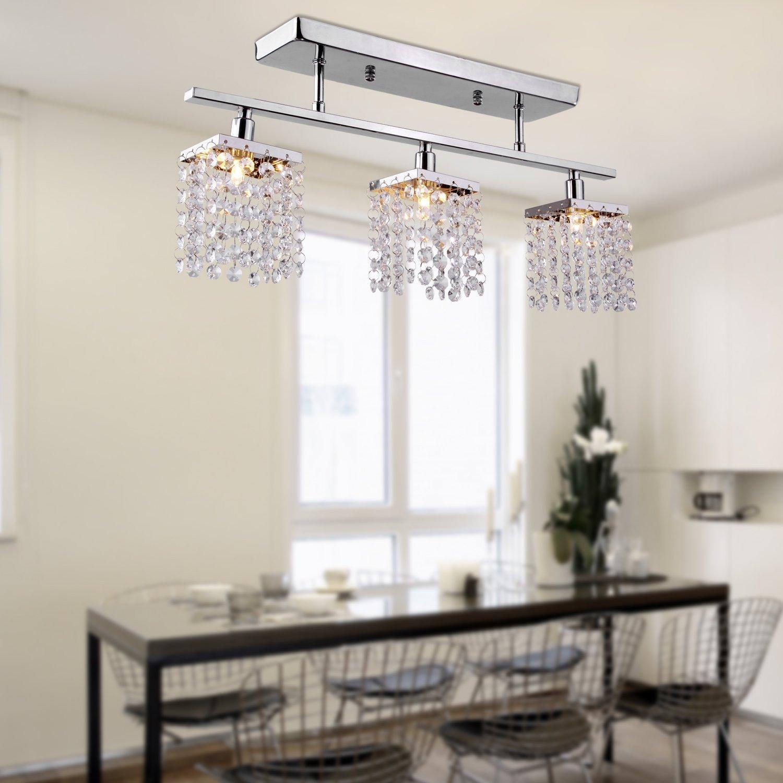 LightInTheBox Chandelier With  Lights In Crystal Flush Mount - Dining room crystal lighting