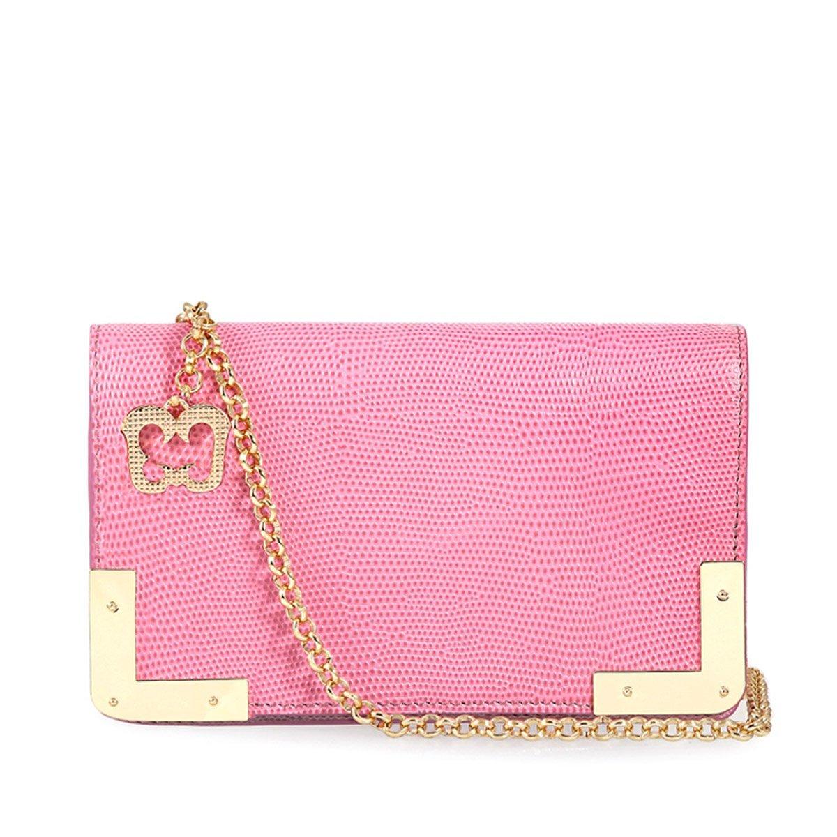 Eric Javits Luxury Fashion Designer Women's Handbag - Cassidy - Pink Mix