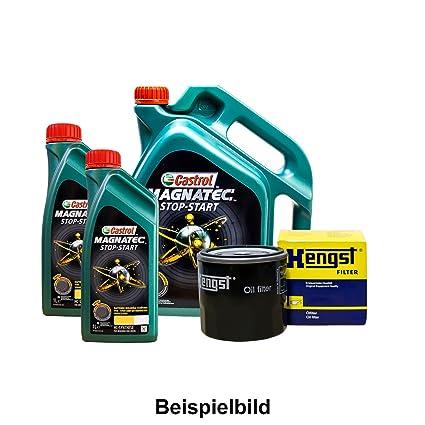 Set 7L de aceite Castrol 5 W de 30 + caballo semental de aceite para Mercedes