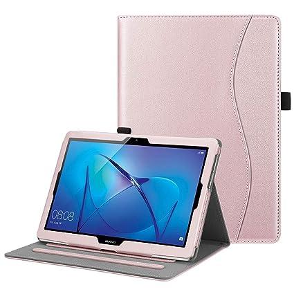 rivenditore di vendita fad4e bcb65 Fintie Custodia per Huawei MediaPad T3 10 - [Protezione d'angolo]  Multi-angli Slim Fit Folio Stand Cover Protettiva Case con Tasca per le  Schede per ...