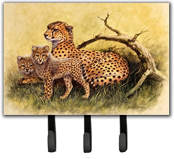 Carolines Treasures BDBA0113TH68 Cheetahs by Daphne Baxter Leash or Key Holder Triple Multicolor Caroline/'s Treasures BDBA0113TH68 Cheetahs by Daphne Baxter Leash or Key Holder