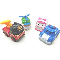 FunBlast Set of 4 Toy Vehicles - Push and Go Crawling Toy, Toy Car for Kids and Children. Fire Truck, Ambulance, Helicopter, Police car Toys Set for Kids