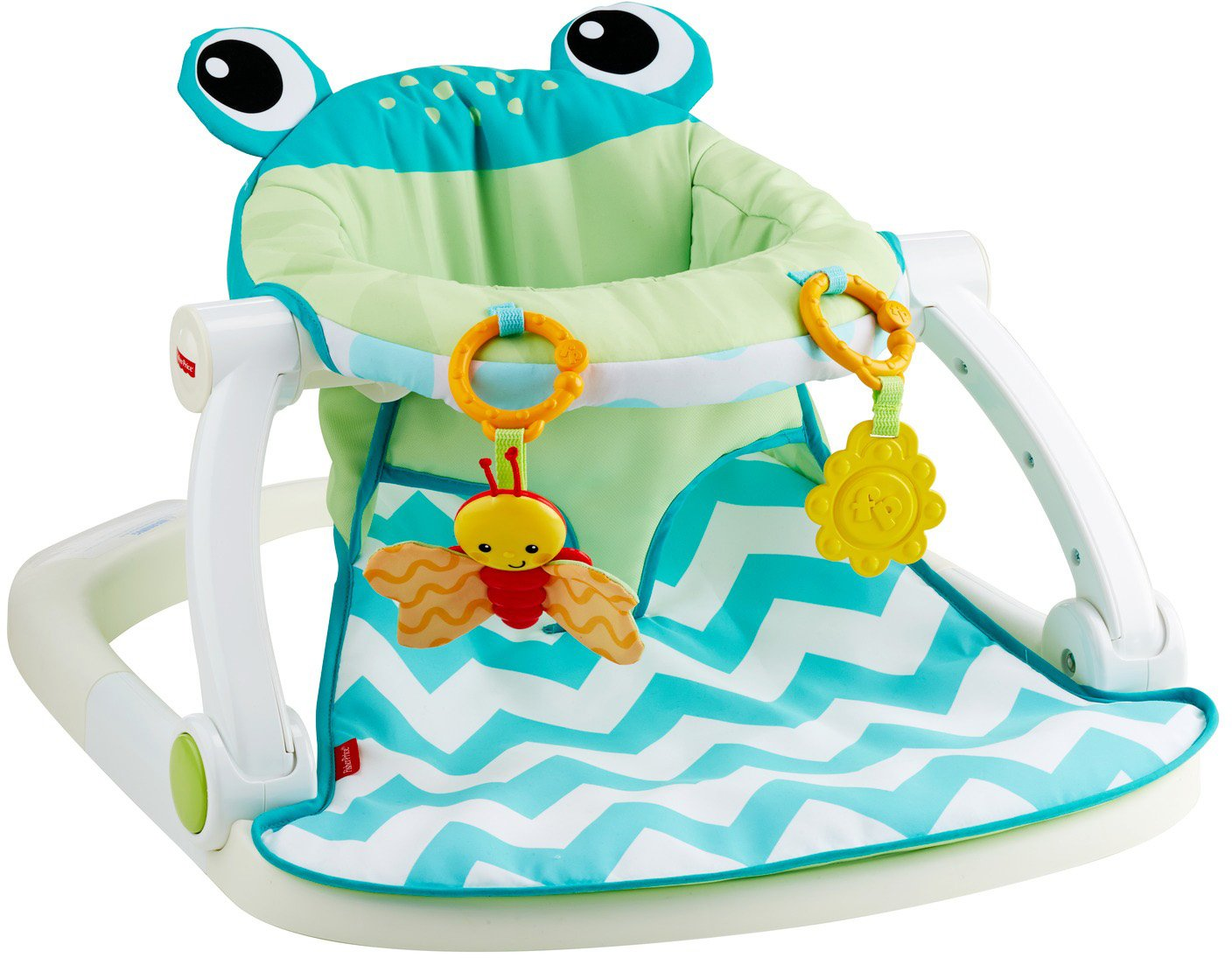 Fisher Price Sit Me Up Floor Seat, Citrus Frog by Fisher Price