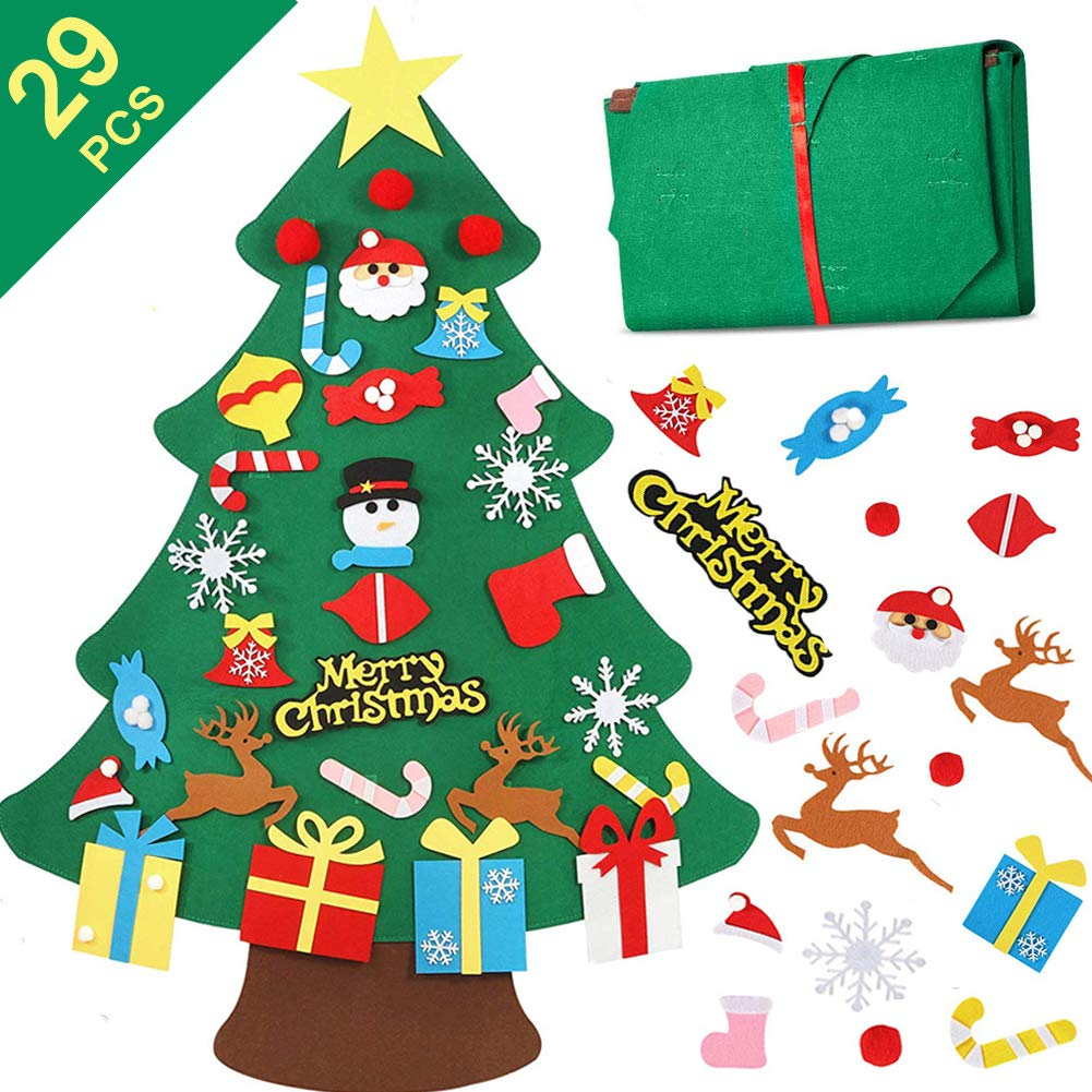 Filz Weihnachtsbaum, Lintimes 3.2ft DIY Weihnachtsbaum mit