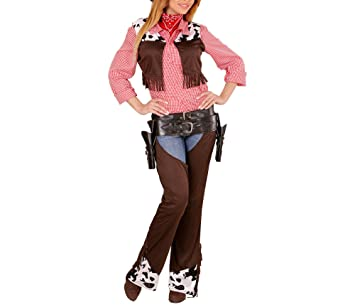 Ladies Cowgirl Fancy Dress Instant Kit Waistcoat Hat /& Neckerchief Medium