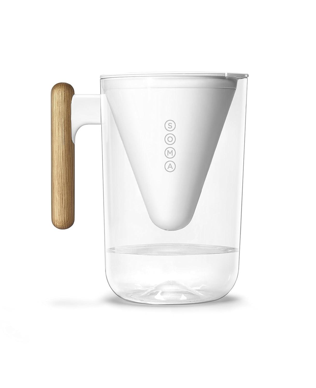 10Tazza s Soma Filtro Acqua brocca Bianco