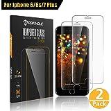 IPhone 6 6s 7 8 Pellicola Vetro Protettiva Protezione Schermo Temperato 4.7'' PORTHOLIC [2-Pack][9H Durezza][3D Toccare][Alta Definizione] Anti-Explosion/Anti Graffi/Manuale/Impronte Digitali/0.33mm