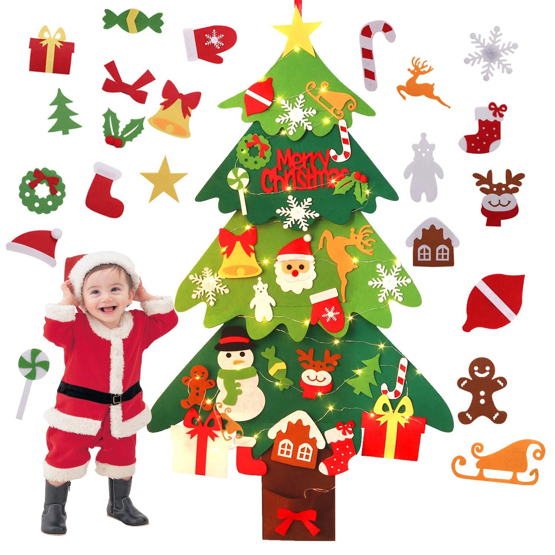 Bellissimo albero di Natale in feltro.
