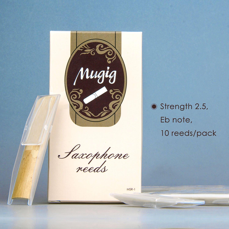 MugigAltoSaxReeds Traditional Strength2.5,10/packwithIndividualPackage