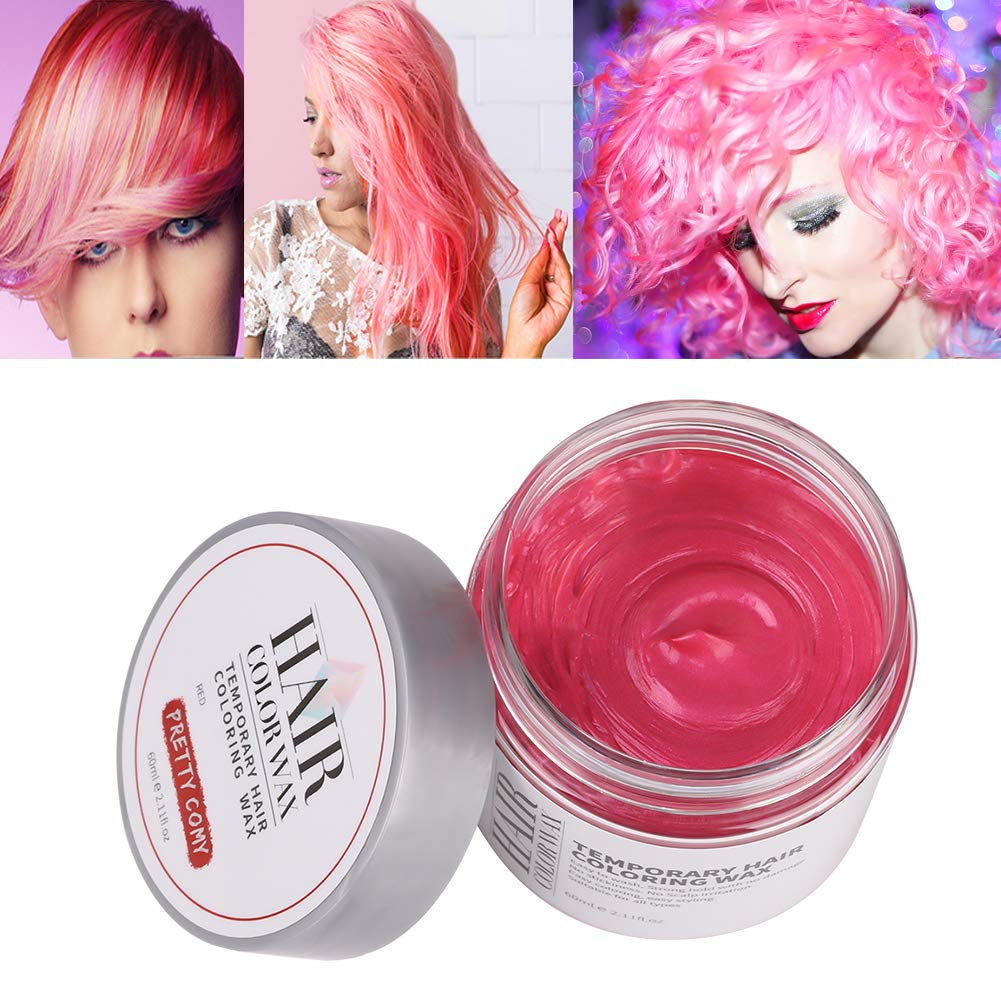 Temporary Hair Colouring Wax, 6 Colour Unisex DIY Hair Styling Hair Dye Wax for Party Cosplay by Pretty Comy